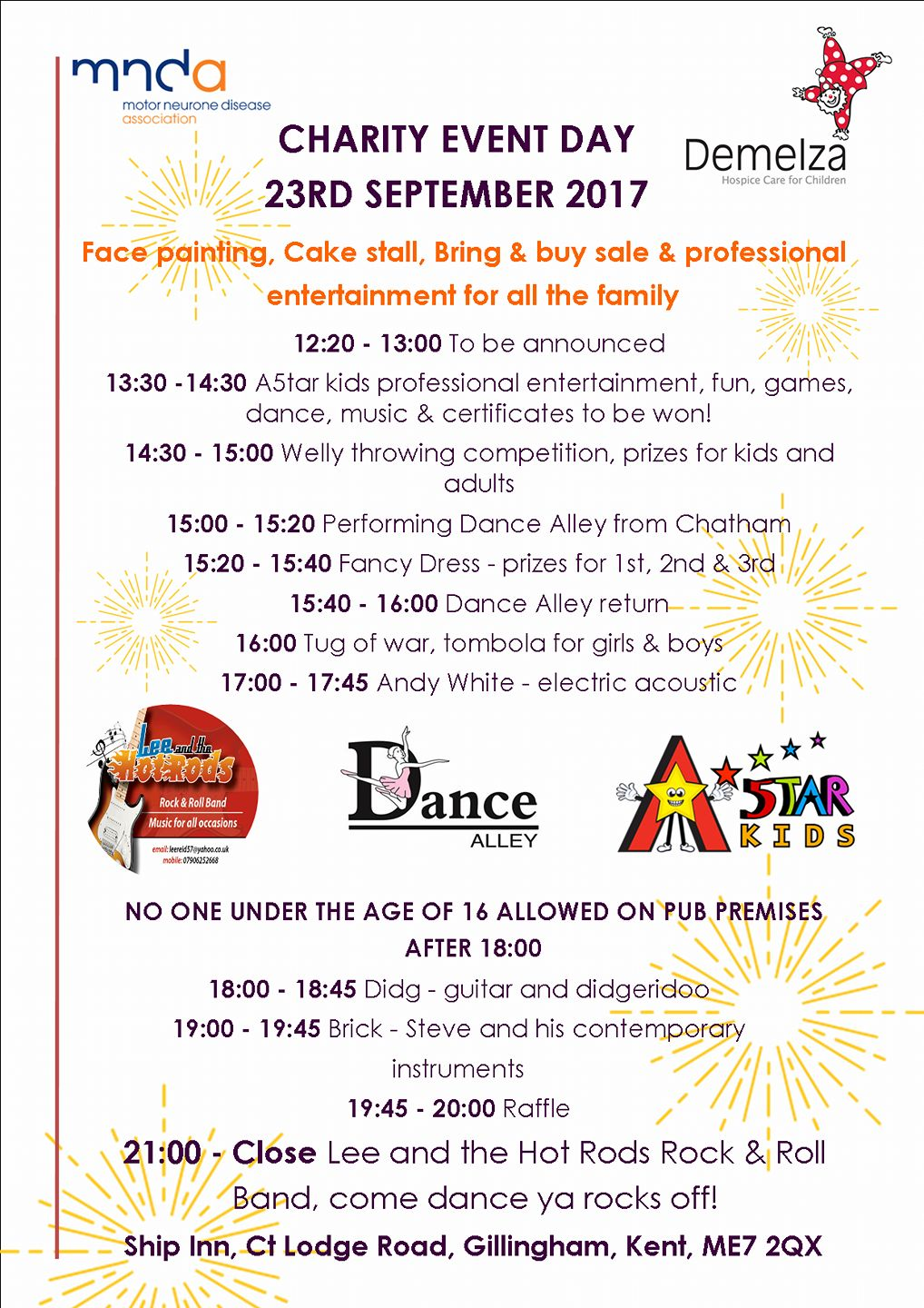23/09/17 Charity Fun Day poster